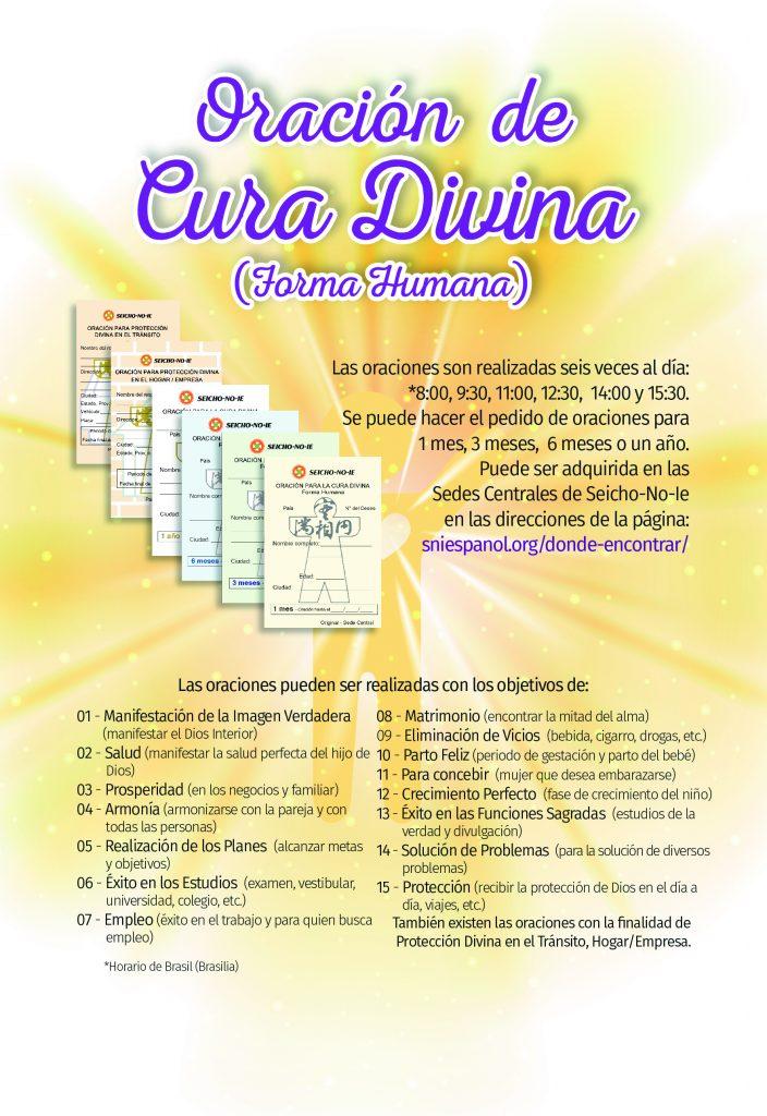 Oración de la Cura divina horma humana